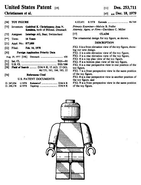 Lego Minifig patents
