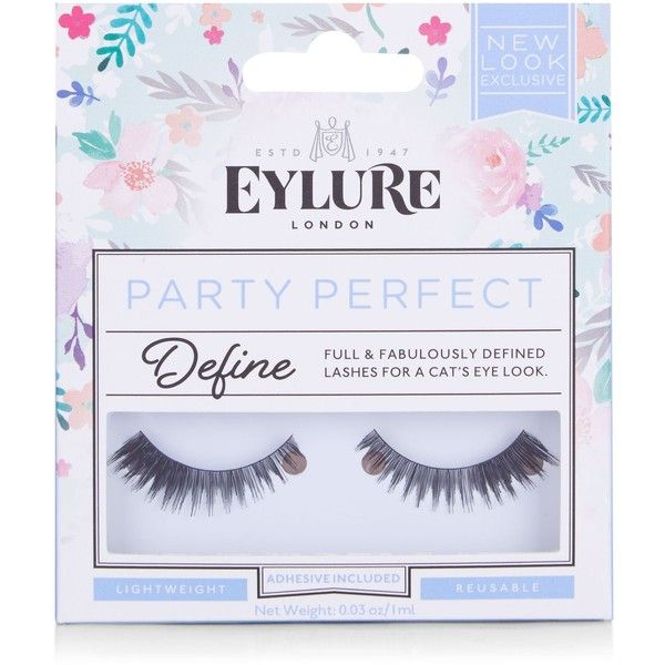 468aa920c3e New Look Eylure Black Party Perfect 123 Fake Eyelashes ($7.30) ❤ liked on  Polyvore featuring black