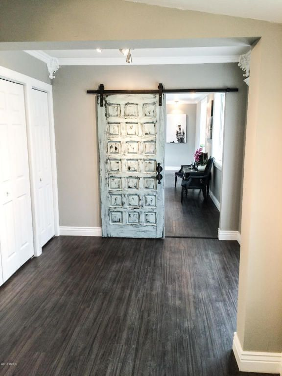 Great Traditional Hallway With Hardwood Floors U0026 Flush Light In PHOENIX, AZ.  Barn Door HardwareBarn ...