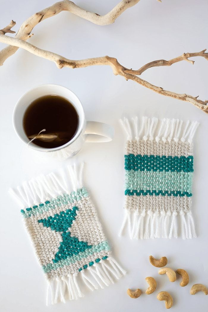 f433abc74d Make some super cute woven coasters using cardboard