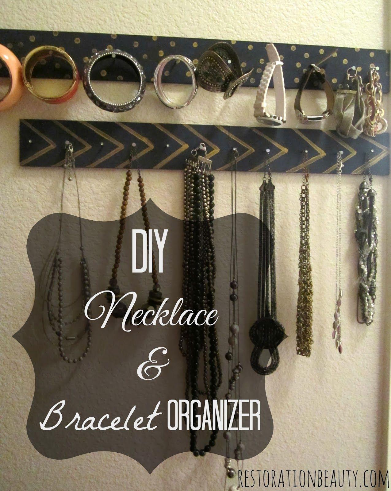 Diy necklace bracelet organizer collane riciclo e - Porta collane ikea ...
