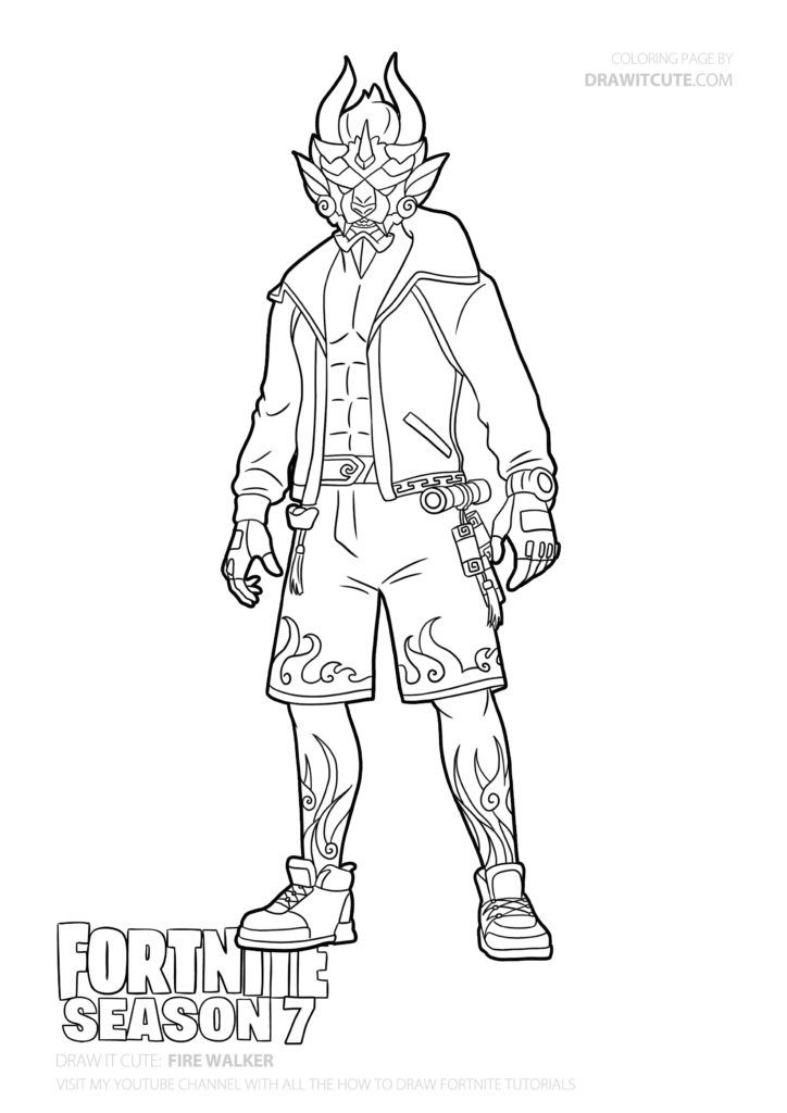 How To Draw Fire Walker Fortnite Season 7 Tutorial Draw It Cute Fortnite Fortnitebattleroyale Fortnitememes Draw Dr Drawings Drawing Tutorial Fortnite