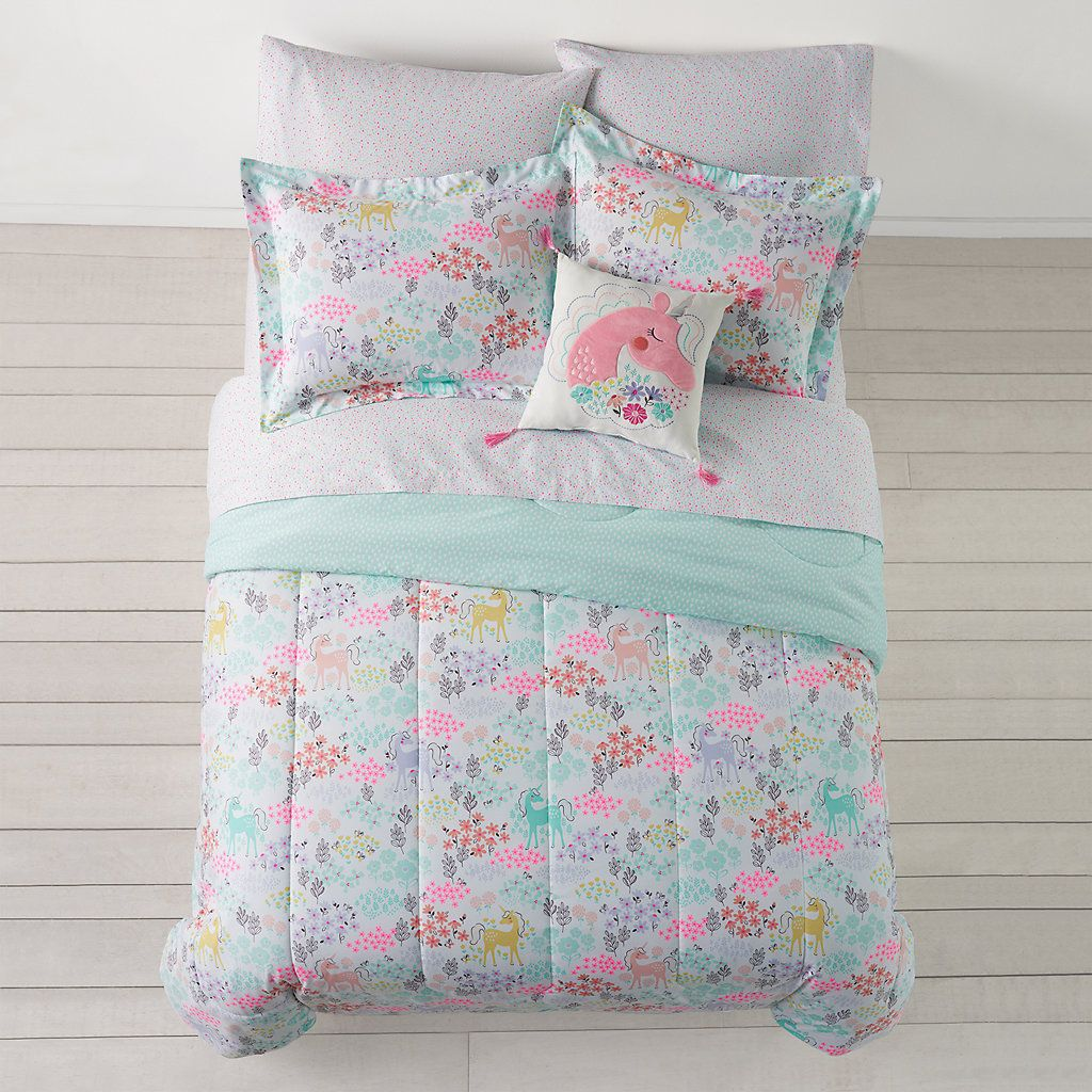 Jumping Beans Enchanted Garden Comforter Collection In