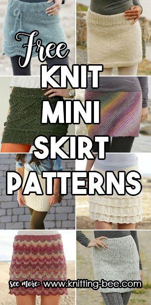Knit Mini Skirt Patterns Free Knitting Ideas Pinterest