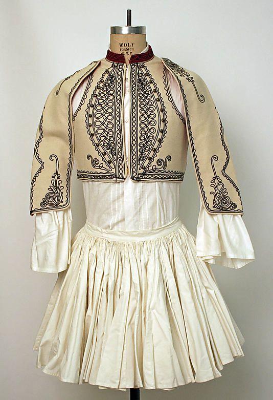 Grecia Traje Tradicional Masculino Siglo Xix Greek Clothing Greek Costume Greek Traditional Dress