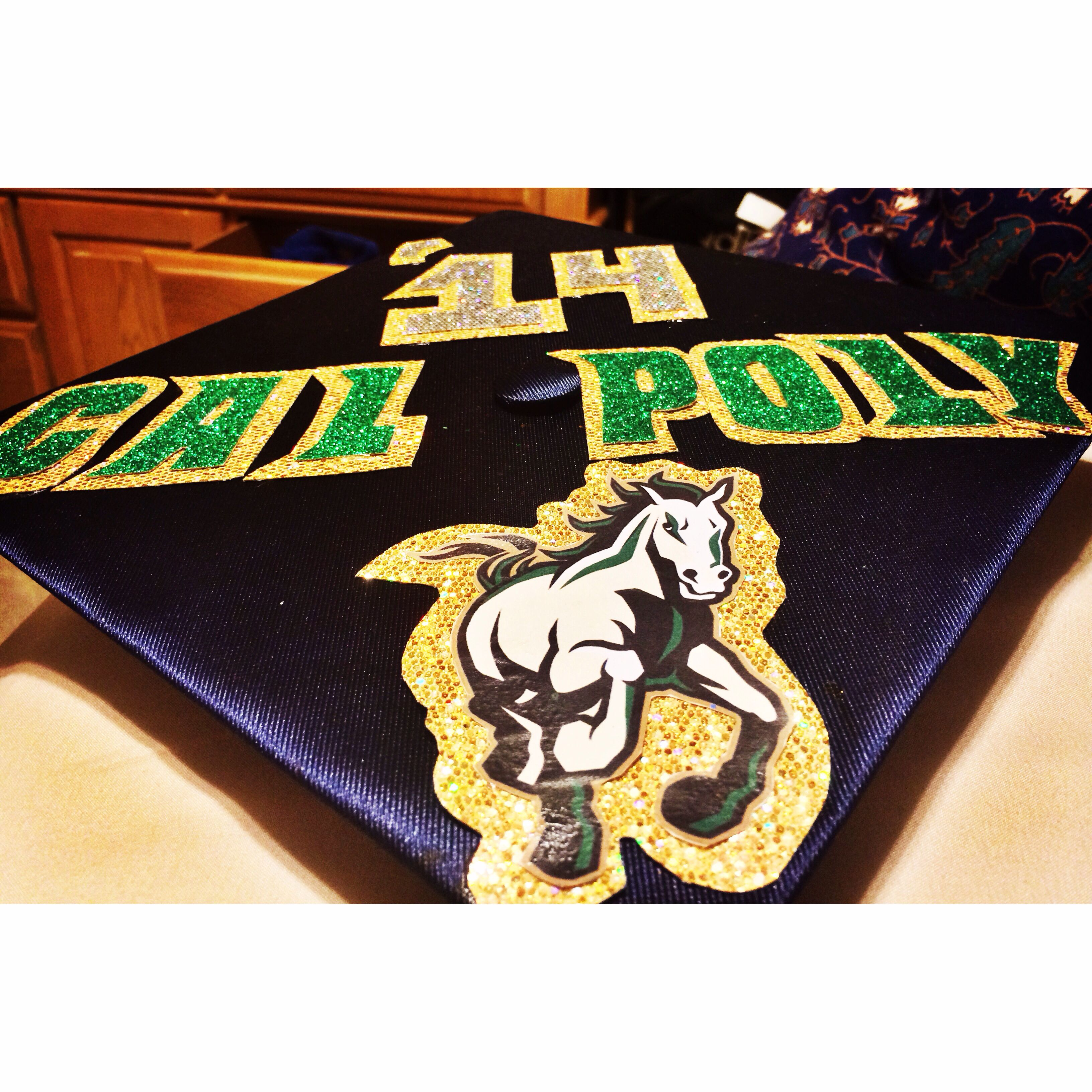 Graduation is next week so I had to decorate my cap. Cal Poly bound San  Luis Obispo   my home away from home. 3e7c28335689