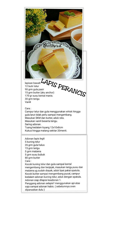 Lapis Perancis Resep Makanan Penutup Makanan Manis Makanan