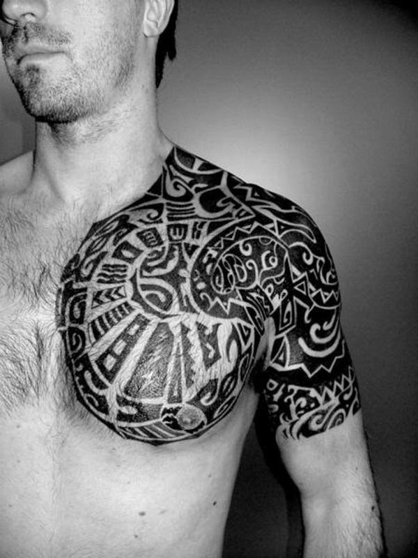 Tatouage Maori Epaule Pectoraux Tatouage Tribal Tatouage Maorie Epaule Tatouage Epaule