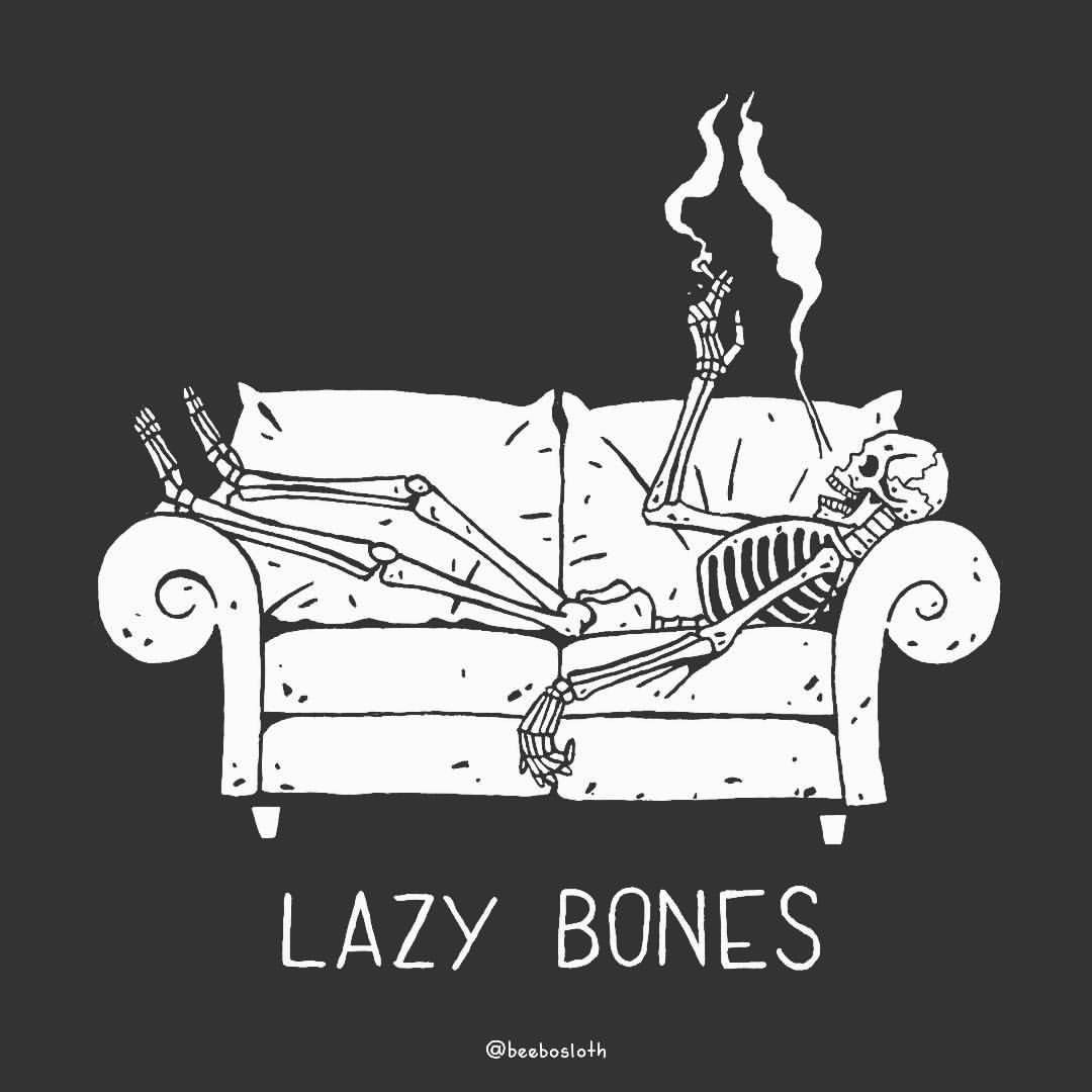 Image result for lazy bones