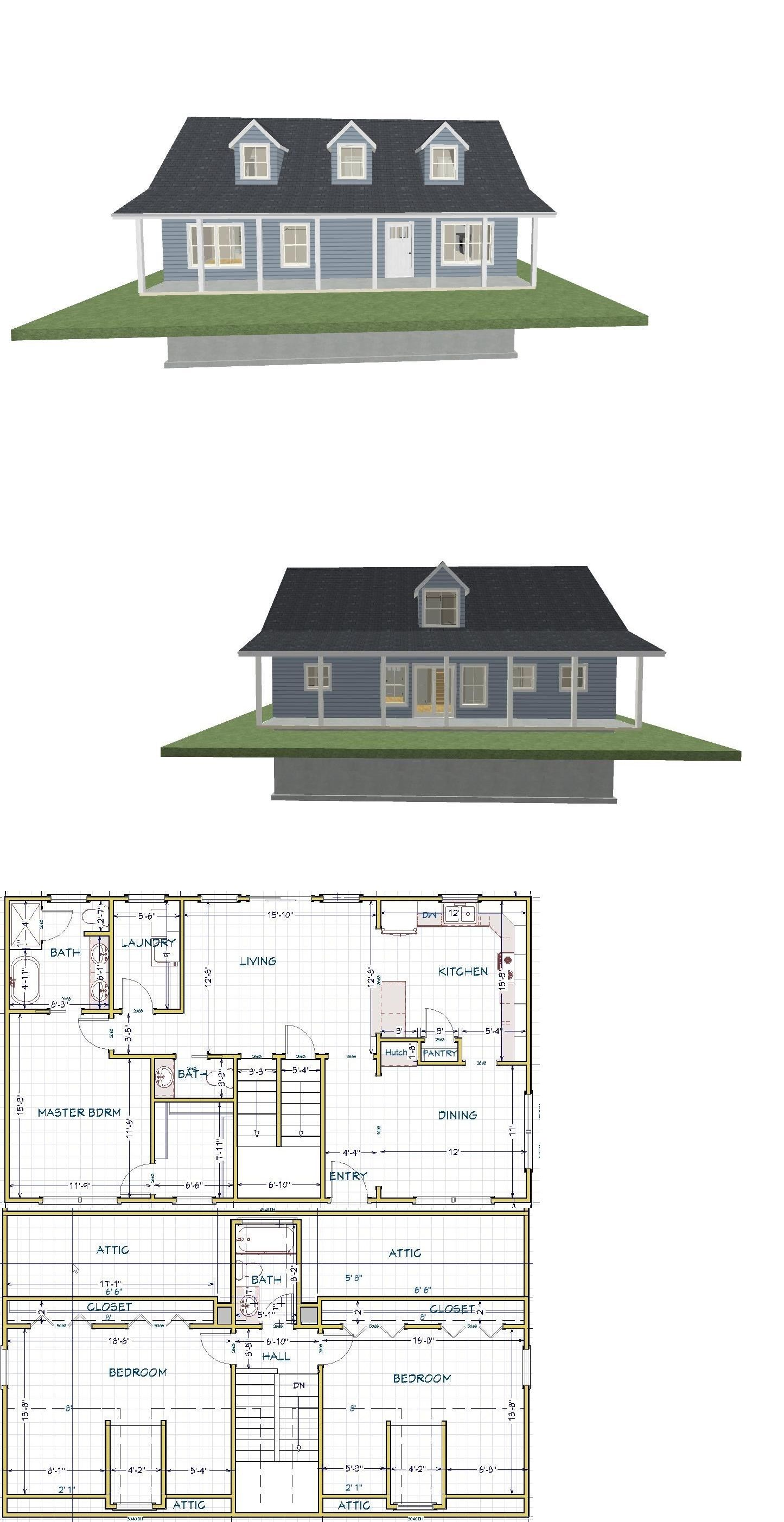 Building Plans And Blueprints 42130 Small House Plan Ready To Build 2 Story 1788 Sf Basement Pl1803bs B House Plans Small House Plan Building Plans