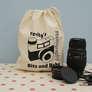 Notonthehighstreet Personalised Photography Gadget Bag