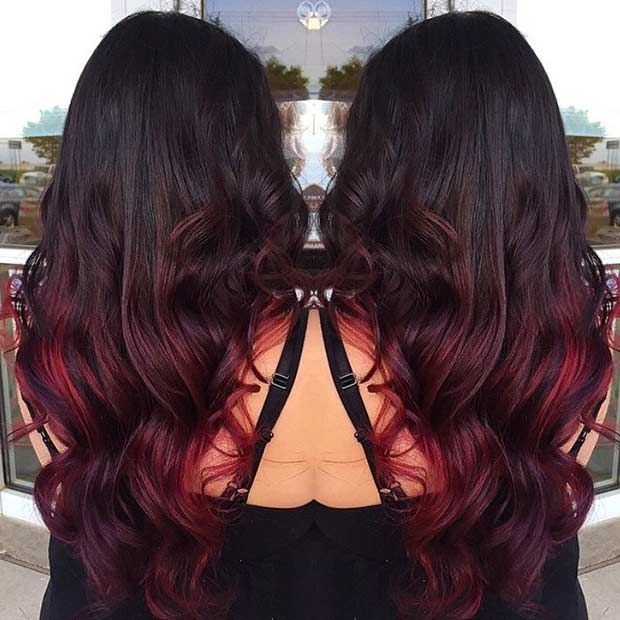 31 Best Red Ombre Hair Color Ideas | hair | Red ombre hair ...