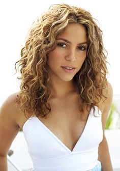 Curly Medium Hairstyles Cute Hairstyles For Curly Brown Hair Shakira  Google Search