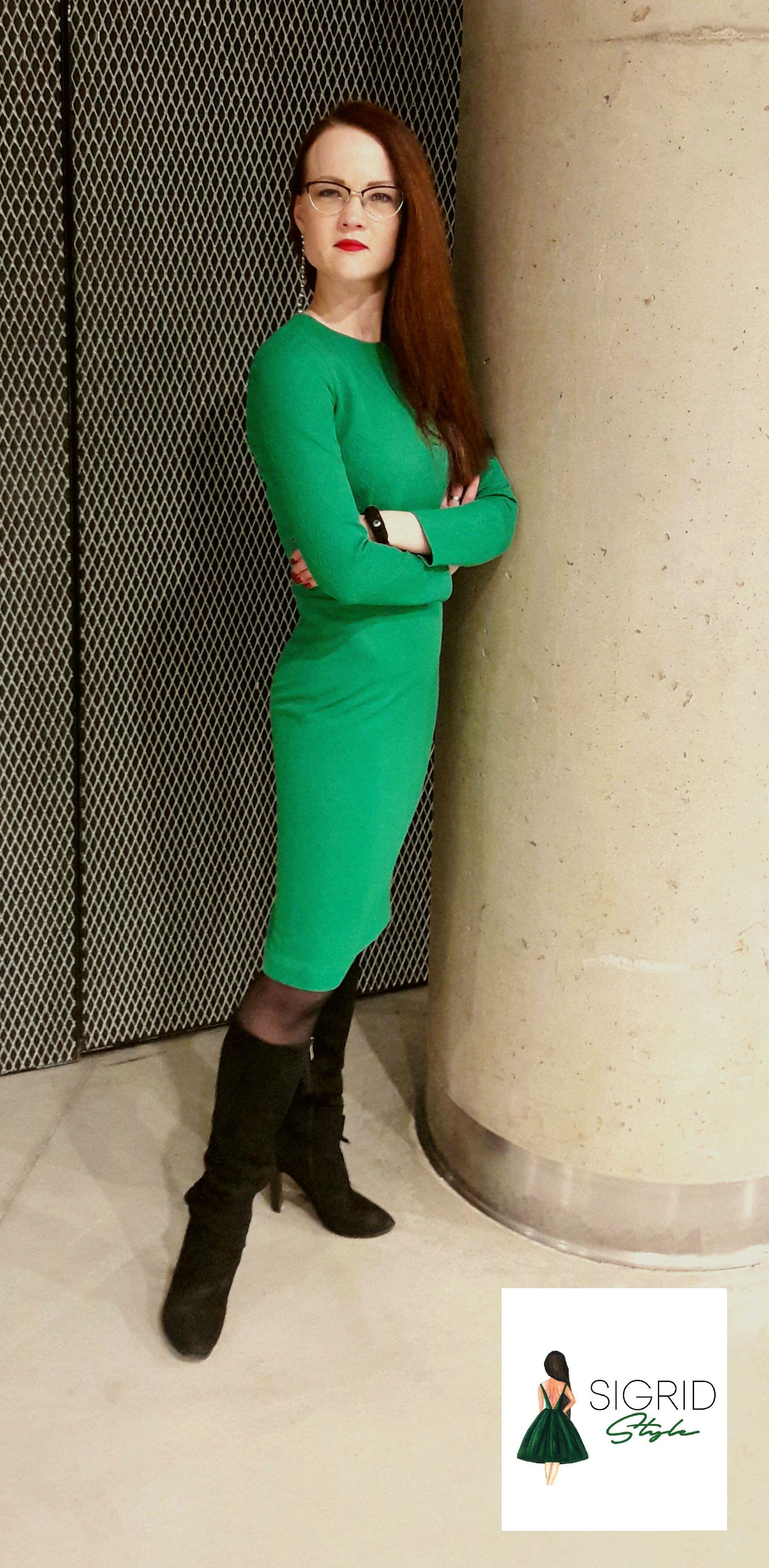 Emerald green midi sheath formal dress sigrid style pinterest