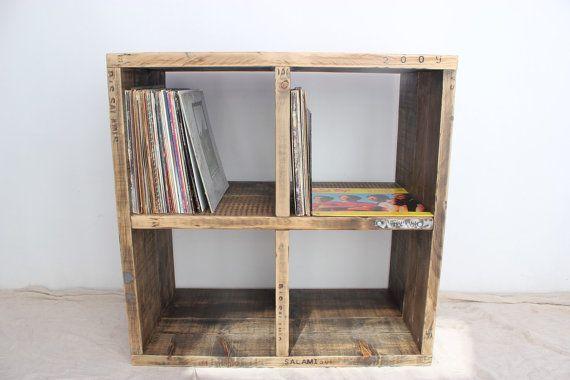 ALLEN Reclaimed Wood Vinyl Storage Unit by OldManAndMagpie & ALLEN Reclaimed Wood Vinyl Storage Unit by OldManAndMagpie   Ideas ...