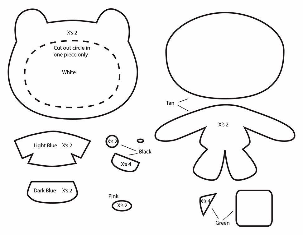 how to make an adventure time finn plushie template tutorial me do