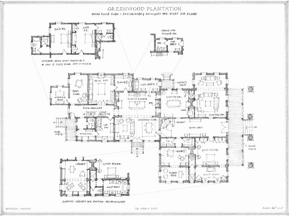 Greenwood plantation historical concepts architecture for Historical concepts architects