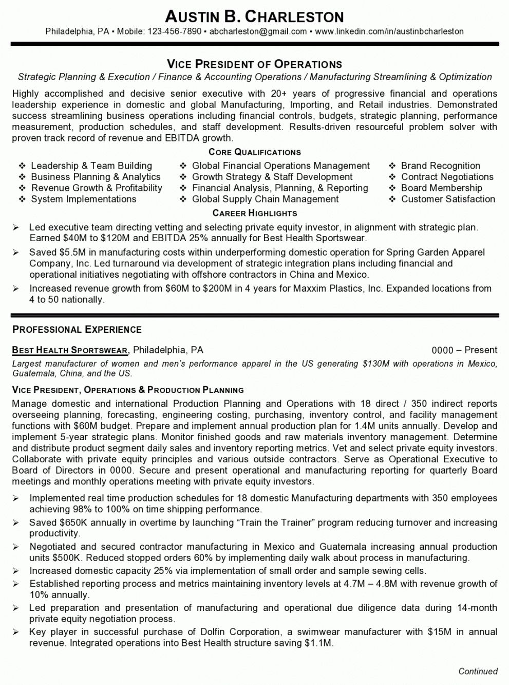 Get Our Example Of Vice President Of Operations Job Description Template For Free Job Description Template Resume Examples Good Objective For Resume