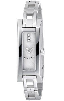 b144106a2 Gucci Gucci YA110516 110 Women's Pearl Dial Diamond Dress Rectangular Watch