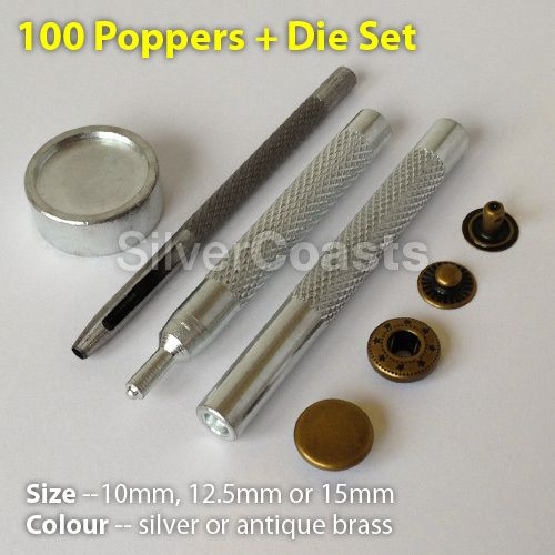 4pcs Sewing Leather Craft Die Punch Tools for 10mm Snap Fastener Press Stud