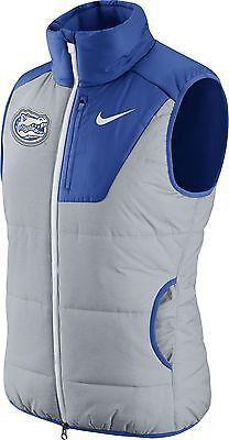 Nike Women's Florida Gators Grey/Blue Champ Drive Vest the size is a Large