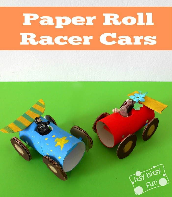 Toilet Paper Roll Cars | Paper roll crafts, Crafts for ...