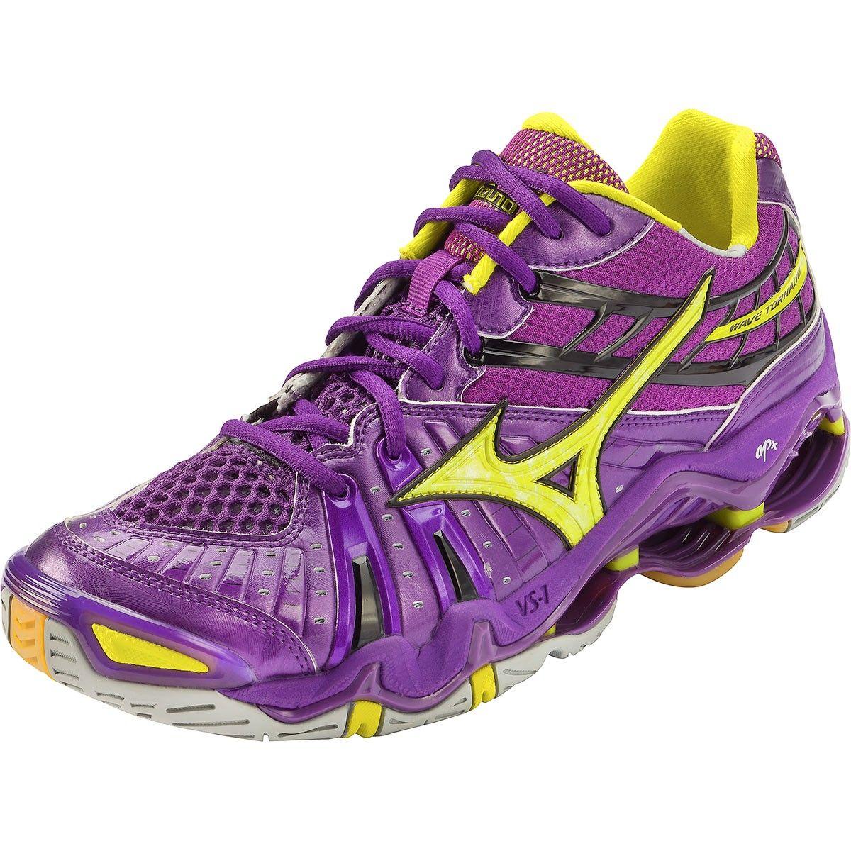 Mizuno Volleyball Shoes Mizuno Wave Tornado 7 Women S Volleyball Shoes Purple Yellow Volleyball Shoes Best Volleyball Shoes Mens Volleyball Shoes