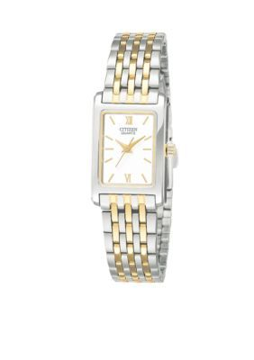 3070aae2b53 Citizen Women s Ladie s Square Two Tone Watch - Two Tone - One Size