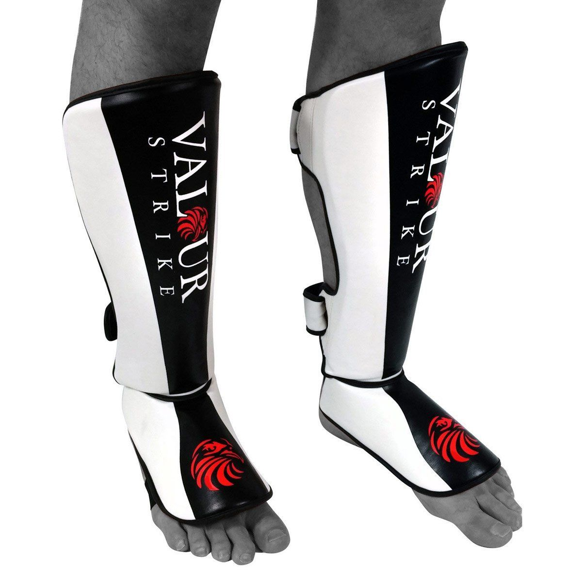 Cloth Shin Instep Protector  White Karate Martial Arts Shinpads Shinguards