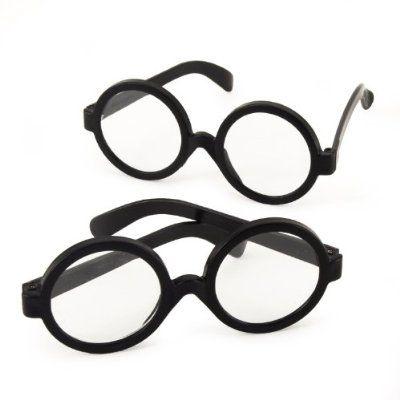 Wizard Round Glasses  Geek  Wally  Potter Fancy Dress World Book Day