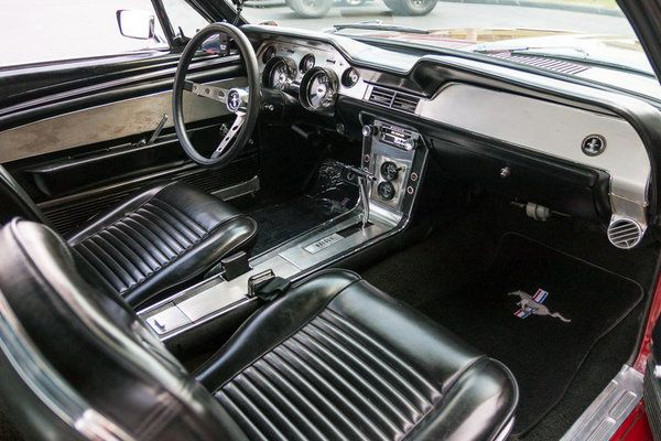 This 1967 Ford Mustang Coupe Has A 302 C I Jasper Crate Engine W Electronic Fuel Injecti Camaro Vs Mustang Mustang Interior Mustang For Sale