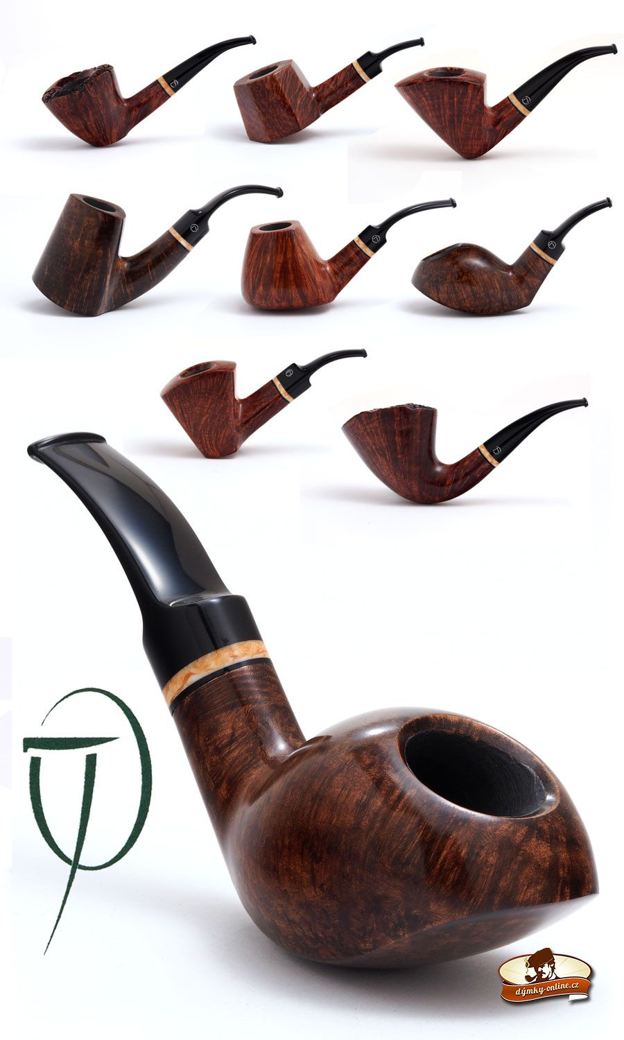 Dýmky Jirsa - kolekce SG Jirsa Pipes - Straight Grain Collection ...