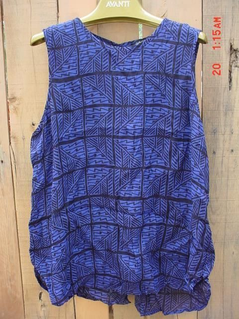 Lucky Brand blouse XL blac and blue #luckybrand #Blouse