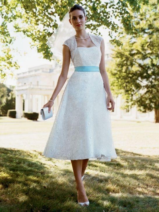 50 Elegant Vintage Chiffon Tea Length Wedding Dresses Trends and ...