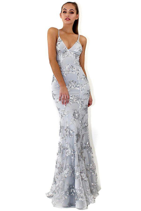 4ca1408b Hualong Sexy Strap Long Sequin Bridesmaid Dresses #bridesmaid  #bridesmaiddresses #wedding #weddingdresses #dresses #sequindress #prom # party #eveningdresses ...