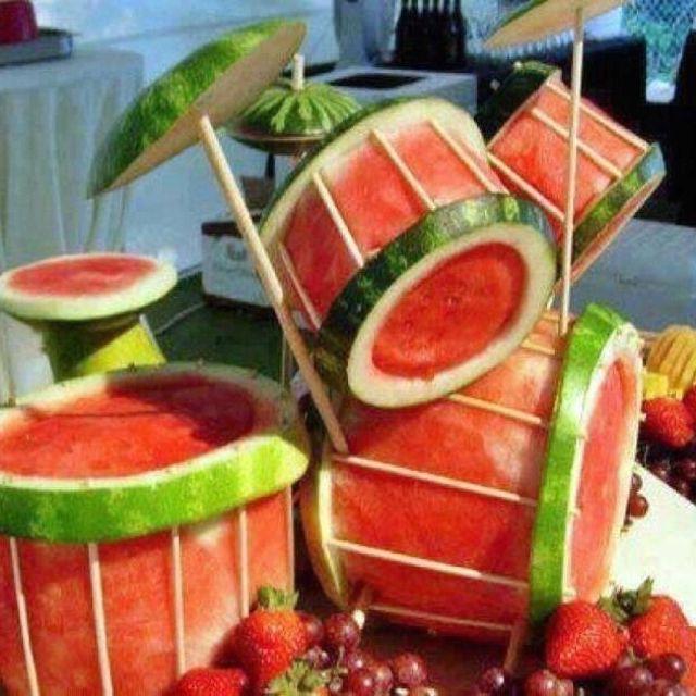Watermelon drums