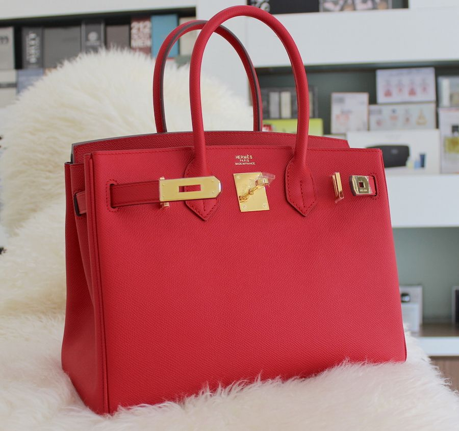 Hermes Birkin red Epsom leather gold hardware. www.kerlagons.com ... 4ab99c73edd6