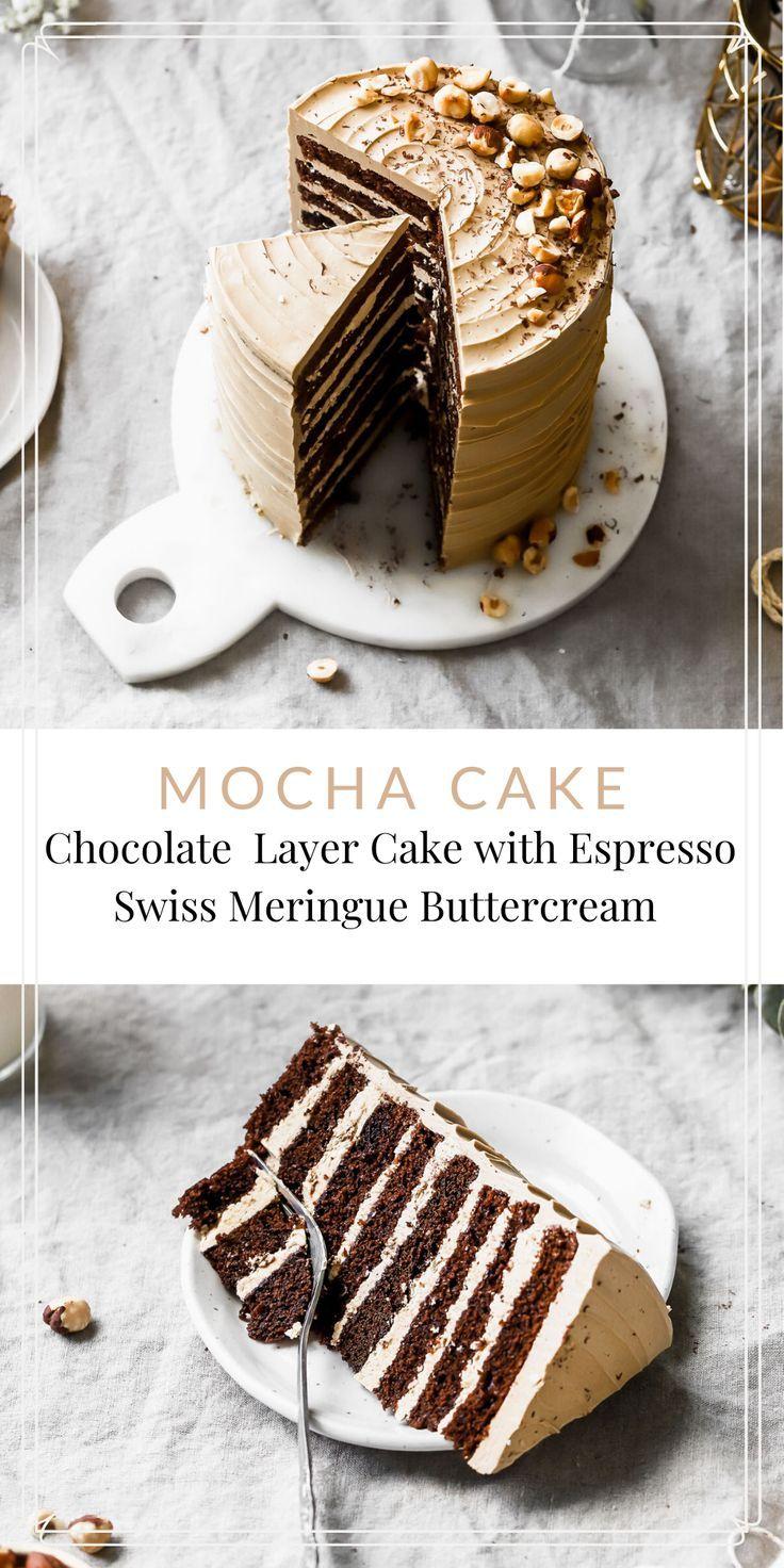 Photo of Mocha Cake with Coffee Swiss Meringue Buttercream