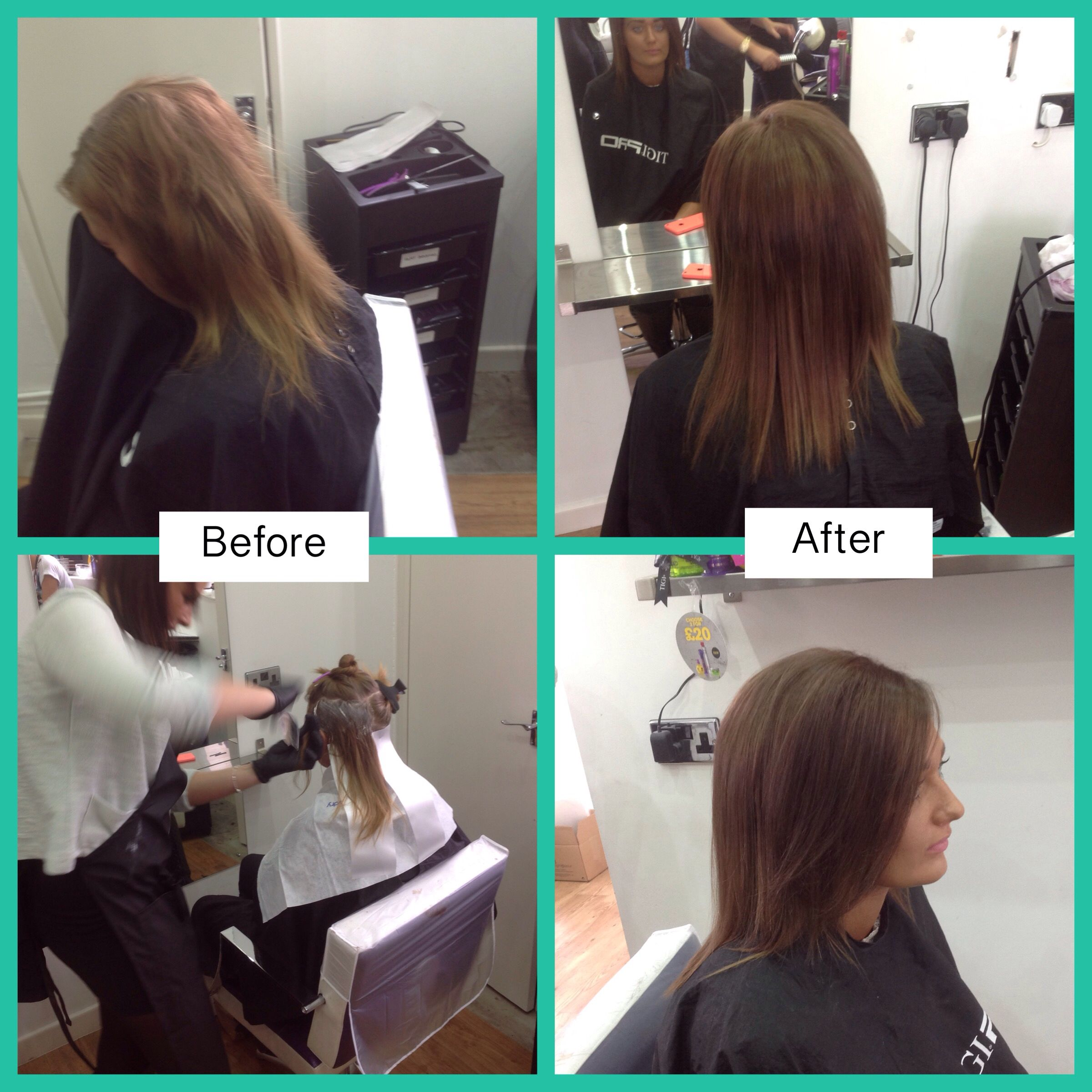 Nofilter our before and afters from our tigi tigicopyrightcolour