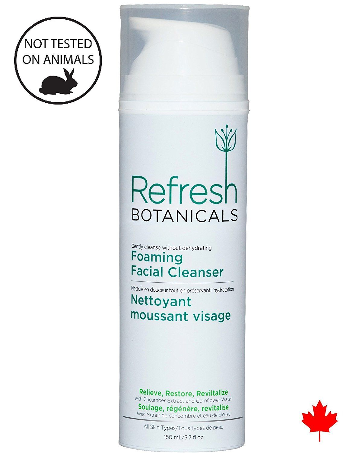 Natural and Organic Foaming Facial Cleanser, Best Natural