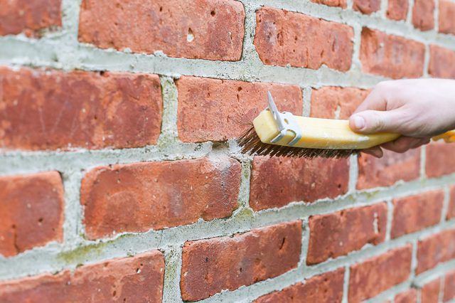 How To Patch Holes In A Brick Wall Hunker Brick Wall Patch Hole Fireplace Mortar