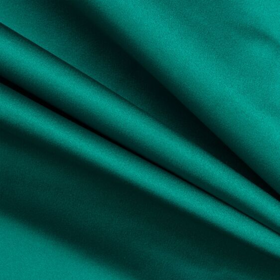 Teal Silk Duchess Satin