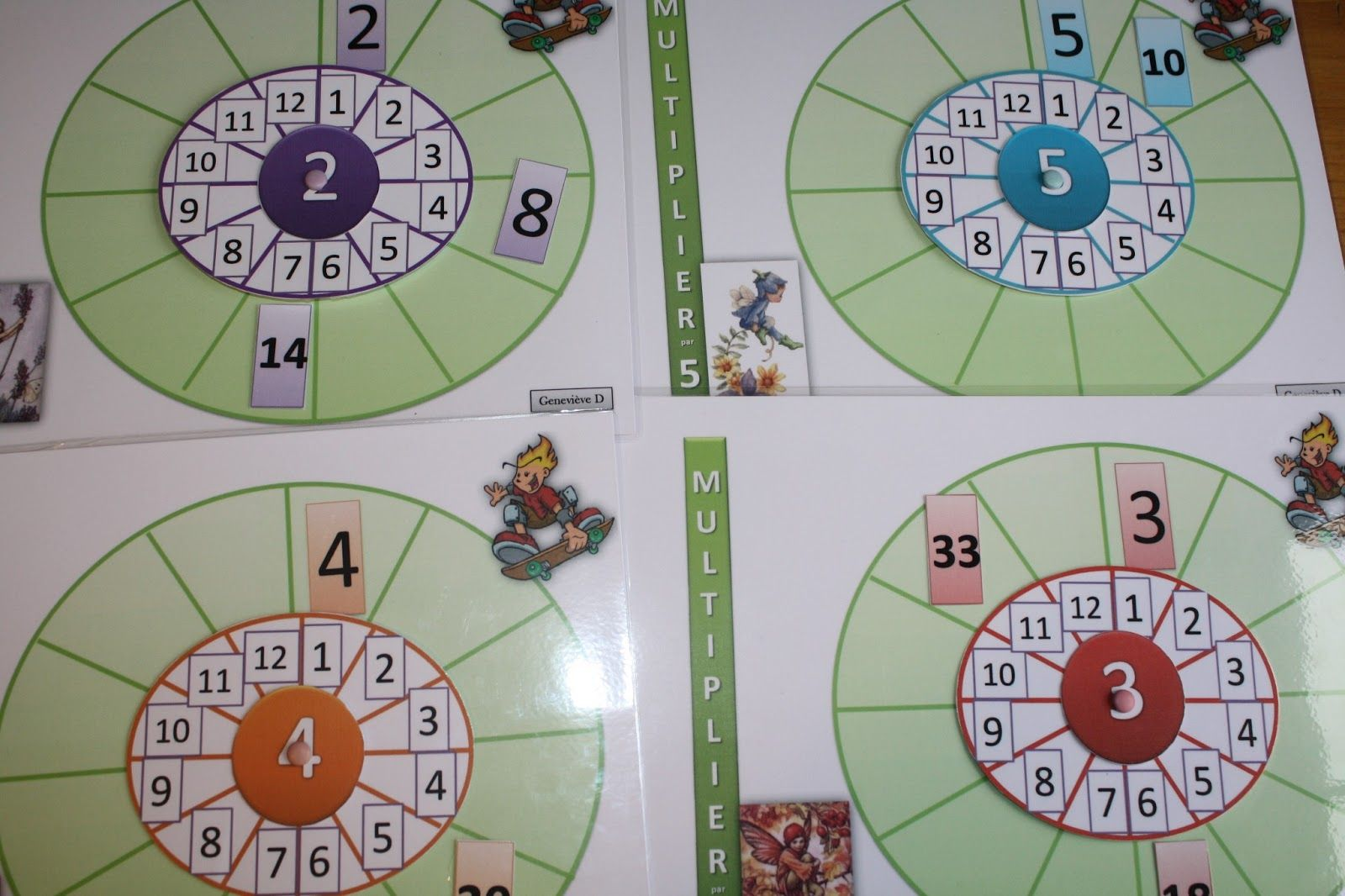 Jeu maths ce1 la roue des multiplications school for Multiplication table jeux