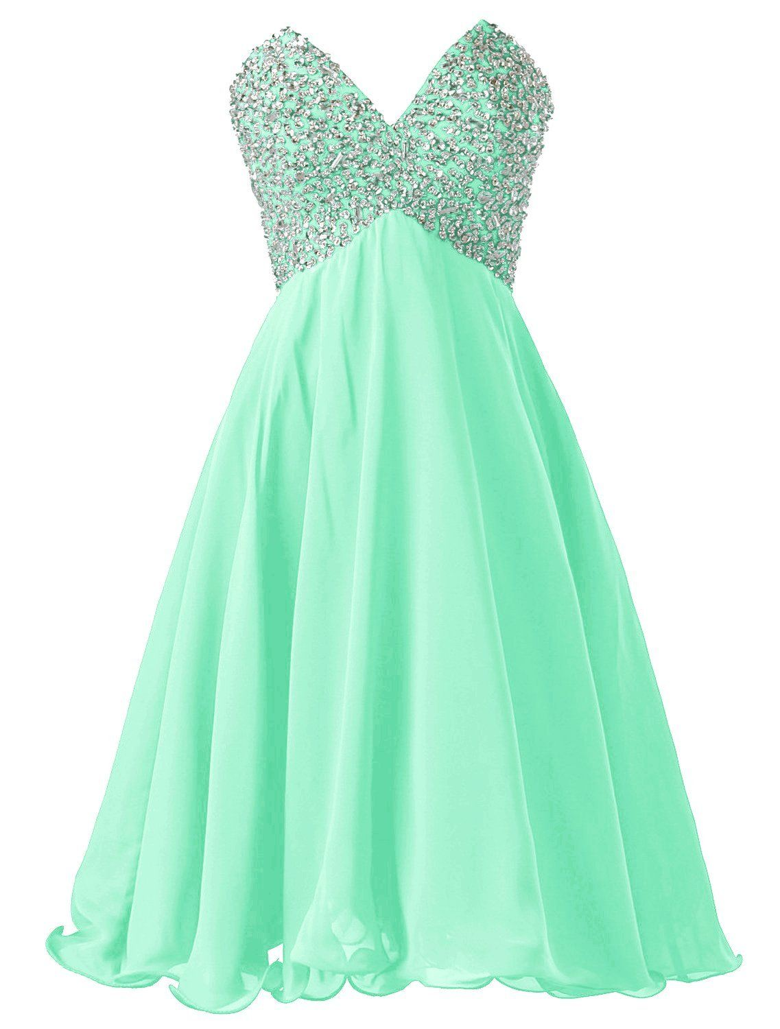 Dressystar mint homecoming dresses vneck homecoming dresses
