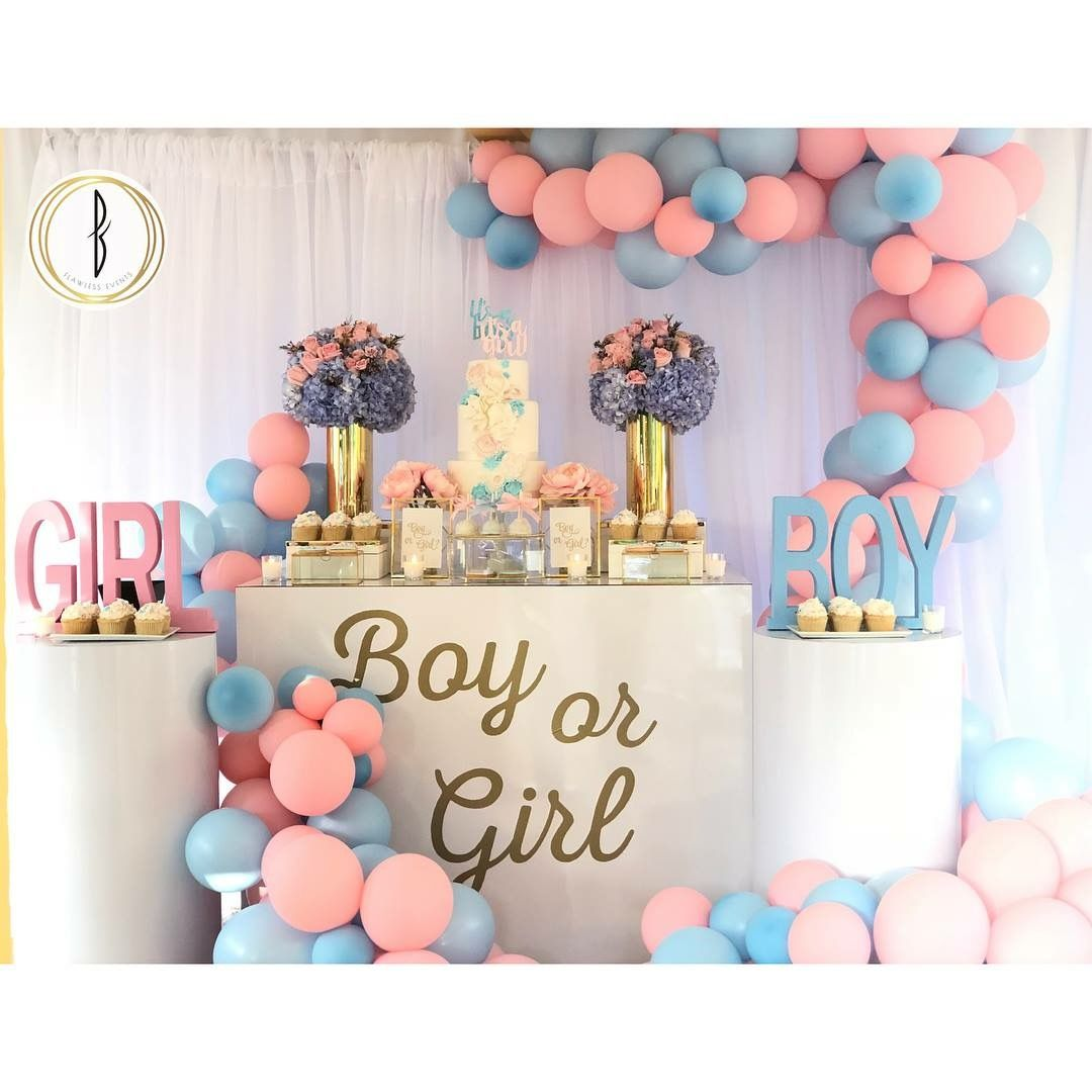 Pin By Dyazz On Party Gender Reveal Gender Reveal Balloons Gender Reveal Shower Gender Reveal Party Theme