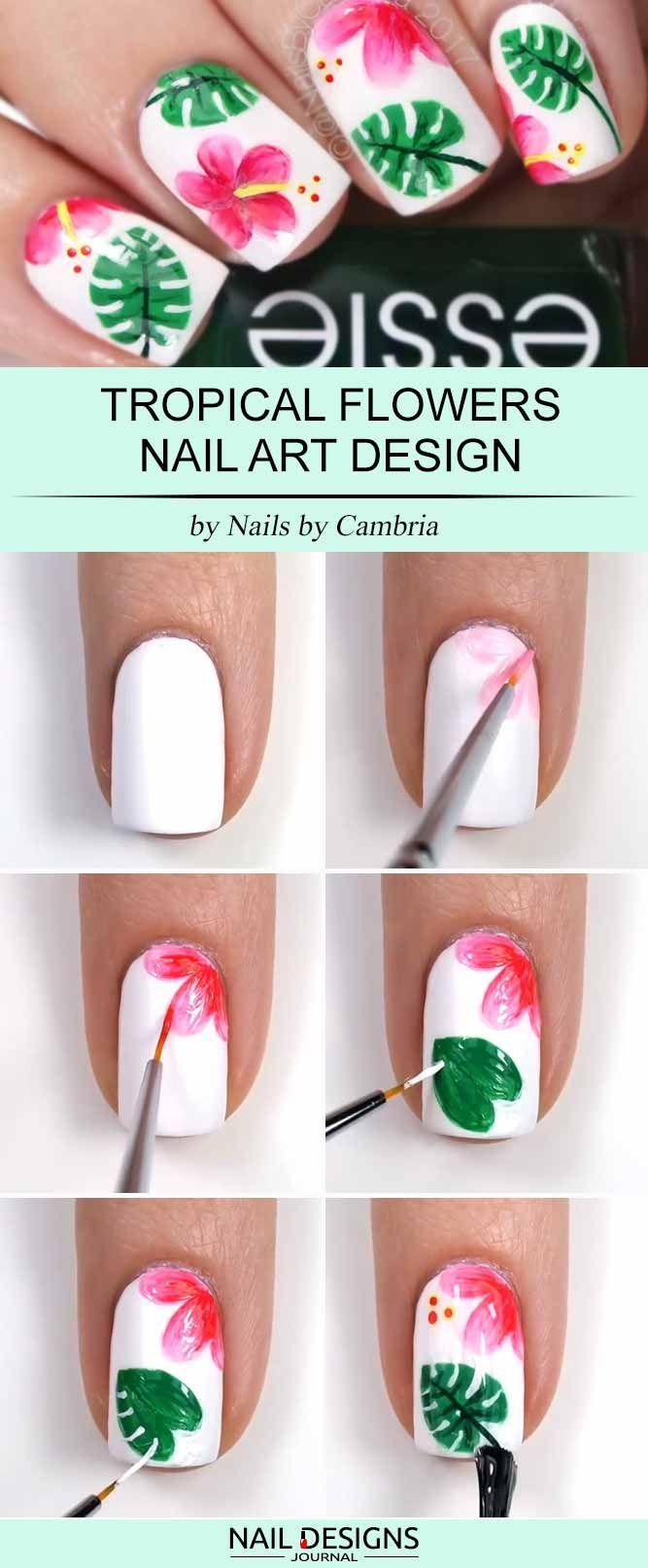 Super Easy Nail Designs DIY Tutorials nail art Pinterest