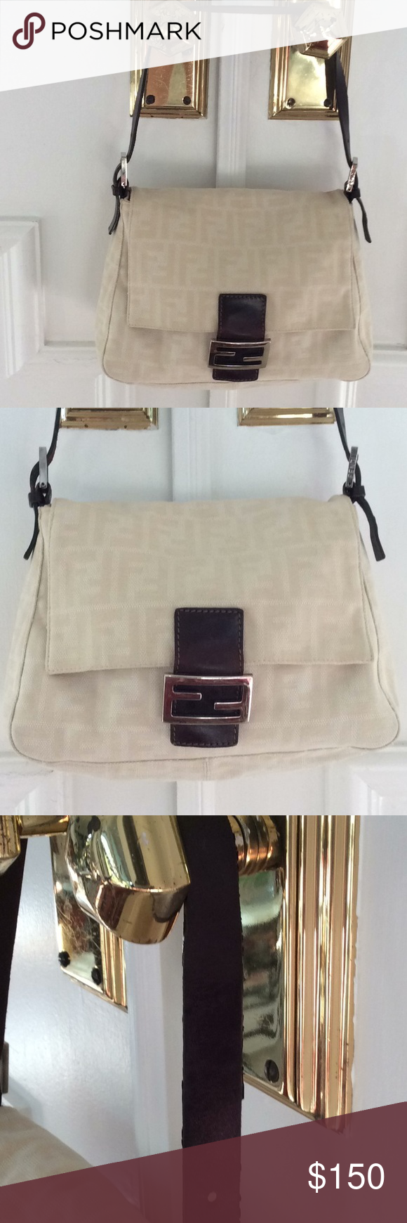 1ca92b79ae0c Authentic Fendi bag Great little bag for Summer. It s lightweight and easy  to sling over your shoulder for casual outings. Some wear on the leather  strap- ...