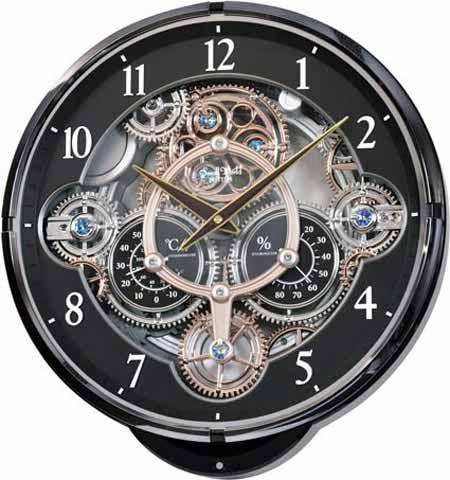 Rhythm 4mh886wd02 Gadget Musical Motion Wall Clock With Images Gear Wall Clock Wall Clock Clock