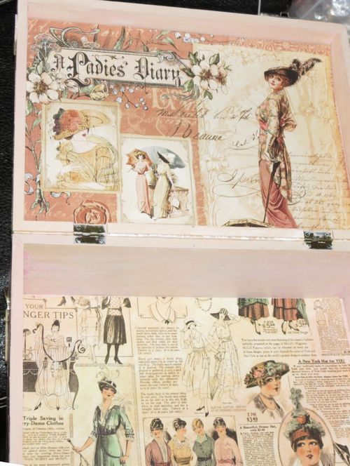 Inside Ladies Diary box