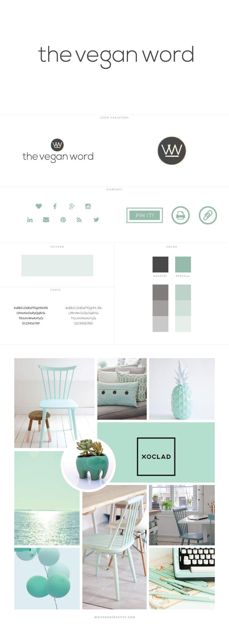 Custom Blog Design for The Vegan Word by White Oak Creative  - logo design, wordpress theme, mood board inspiration, blog design idea, graphic design, branding
